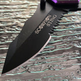 "8"" TAC FORCE SPRING ASSISTED Tactical Purple Scorpion FOLDING Pocket Knife Open - Frontier Blades"