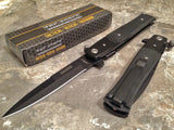 "8.5"" Tac Force Black Stiletto G10 Self Defense Pocket Knife TF-428G10 - Frontier Blades"