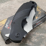 "8.5"" Mtech Xtreme Assisted Open Black Tactical Pocket Knife - Frontier Blades"