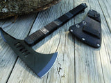 "TOMAHAWK BLACK ZOMBIE KILLER Tactical Hiking 14.25"" Over 7"" SS Hatchet Axe NEW - Frontier Blades"