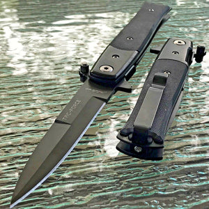 "8.75"" Tac Force Milano Stiletto G10 Tactical Pocket Knife - Frontier Blades"