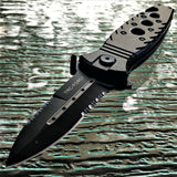 "8.0"" Tac Force Spear Point Military Rescue Folding Tactical Knife - Frontier Blades"