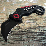 "8"" Tac Force Spring Assisted Tactical Black Karambit Claw Pocket Knife - Frontier Blades"