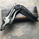 TAC FORCE TACTICAL SPRING ASSISTED CAMPING HUNTING FOLDING POCKET KNIFE TF-705GY - Frontier Blades