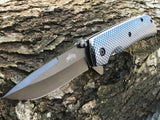 "8"" Master USA Tactical Carbon Fiber Assisted Folding Pocket Knife - Frontier Blades"