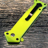 "8"" Z-HUNTER ZOMBIE SPRING ASSISTED GREEN HANDLE STILETTO JOKER KNIFE - Frontier Blades"