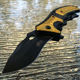"8"" Master USA Assisted Open Stonewashed EDC Pocket Knife MU-A064YL - Frontier Blades"