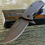 "TWO 6.25"" TAC FORCE TITANIUM SPRING ASSISTED FOLDING POCKET KNIFE Open Assist - Frontier Blades"