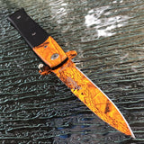 "9"" TAC FORCE Spring Assisted Tactical Combat Camo Stiletto Folding Pocket Knife - Frontier Blades"
