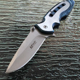 "8"" MTech USA Ballistic Blue Spring Assisted Folding Knives (MT-A960BL) - Frontier Blades"