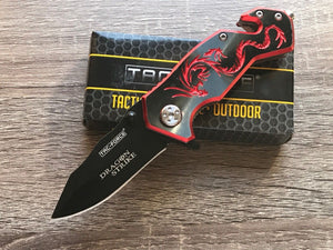 Tac Force Red Dragon Strike Assisted Fantasy Pocket Knife (TF-686BR) - Frontier Blades