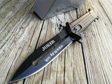 "7.5"" THE JOKER ""WHY SO SERIOUS"" BLACK SPRING ASSISTED KNIFE - Frontier Blades"