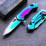 "6.5"" Tac Force Speedster Model Mini Rainbow Assisted Pocket Knife - Frontier Blades"