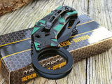 "7.75"" Tac Force Ninja Green Karambit Claw Blade Tactical Pocket Knife - Frontier Blades"