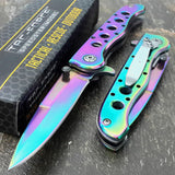 "7.25"" Tac Force Rainbow Spectrum Small Mini Pocket Knife TF-300382RB - Frontier Blades"