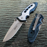 "MTECH BALLISTIC MT-A960BL 8"" BLUE SPRING ASSISTED FOLDING KNIFE - Frontier Blades"