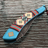 "NATIVE AMERICAN SPRING ASSISTED FOLDING KNIFE Open Indian Assist Blade New 8.5"" - Frontier Blades"