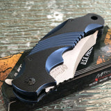 MTech USA Xtreme Ballistic Black Blue Spring Assisted Pocket Knife - Frontier Blades