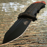 "8"" Master USA Black & Orange Reverse Tanto Pocket Knife (MU-A040OR) - Frontier Blades"