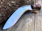 "17"" Fixed Blade Nepalese Kukri Frontier Blade Knife w/ Throwing Knives - Frontier Blades"