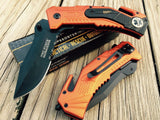 "7.5"" Tac Force Spring Assisted EMT EMS Rescue Folding Pocket Knife - Frontier Blades"