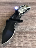 "8"" Tac Force Tactical Rescue US Army Pocket Knife w/ LED Light - Frontier Blades"