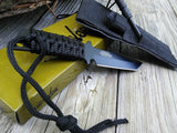 "7"" Survivor Fixed Tanto Blade Survival Knife w/ Fire Starter (HK-760) - Frontier Blades"