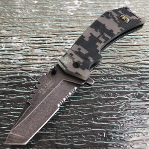 "8.5"" U.S. Army Official Military Digital Camo Pocket Knife (A-A1021CS) - Frontier Blades"