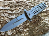 "8.5"" Tac Force Gray Spring Assisted Tactical Stiletto Pocket Knife - Frontier Blades"