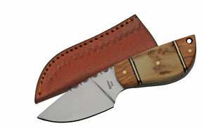 "5"" Wild Stag Steel Short Skinner Fixed Blade Knife (SS-7028) - Frontier Blades"
