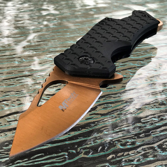 "MTECH 5.75"" ASSISTED OPEN OUT DOOR CAMPING BOTTLE OPENER FOLDING POCKET KNIFE - Frontier Blades"