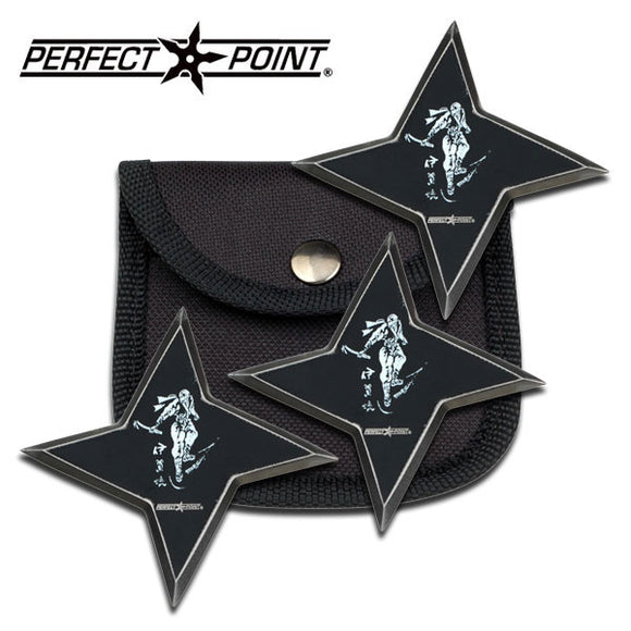 3 Pcs Perfect Point  PP-90-35-3 Throwing Stars set 3.0