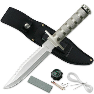 "OUTDOOR HUNTING & SURVIVOR FULL TANG 12.0"" FIXED BLADE KNIFE w/ SHEATH CK-086S - Frontier Blades"