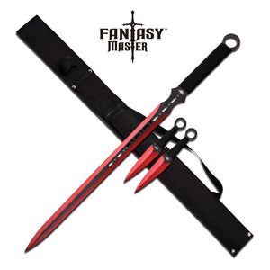 "FANTASY MASTER FM-644RD FANTASY SWORD 28"" AND 6"" OVERALL - Frontier Blades"