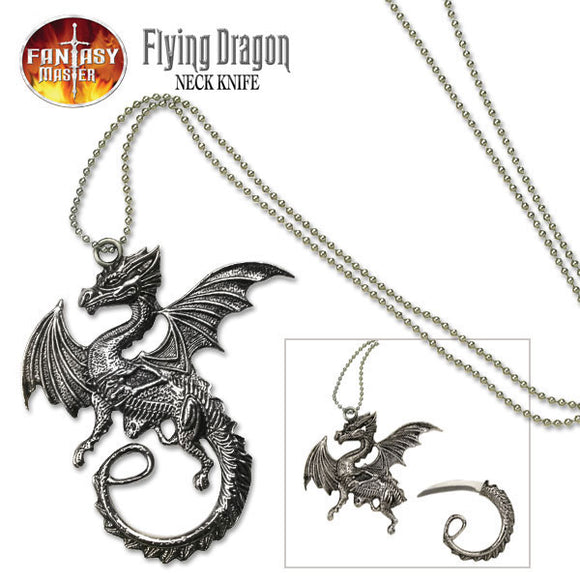 Fantasy Master Flying Dragon Necklace Knife - Frontier Blades