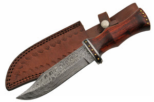 "11"" Hand Forged Damascus Bowie Knife - Frontier Blades"