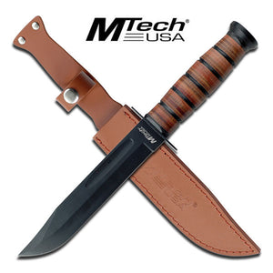 "OUTDOOR HUNTING & SURVIVOR FULL TANG 12.0"" FIXED BLADE KNIFE w/ SHEATH MT-122 - Frontier Blades"