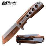 MTECH USA ASSISTED OPEN OUTDOOR FOLDING POCKET KNIFE MT-A1107BZ - Frontier Blades