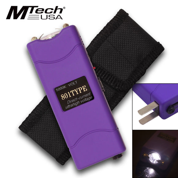 MTech USA 3.8 Volt Purple Ladies Self Defense Stun Gun MT-S807PE - Frontier Blades
