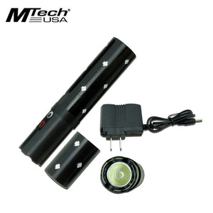 MTech USA Black 3.8M Rechargeable LED Stun Gun (MT-S808BK) - Frontier Blades