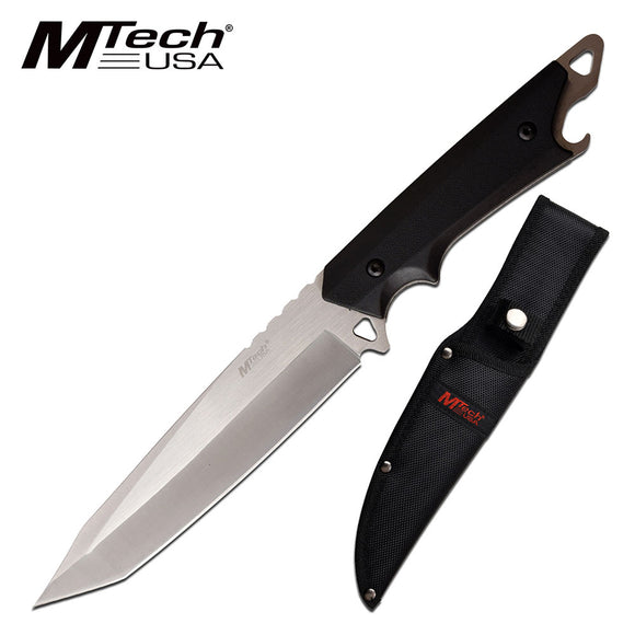 MTech USA Tanto Fixed Blade Satin 3CR13 Steel Kitchen Chef Knife (MT-20-85TS)
