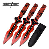 "7.5"" Perfect Point Kunai Red Dragon Throwing Knives (PP-122-3RD) - Frontier Blades"