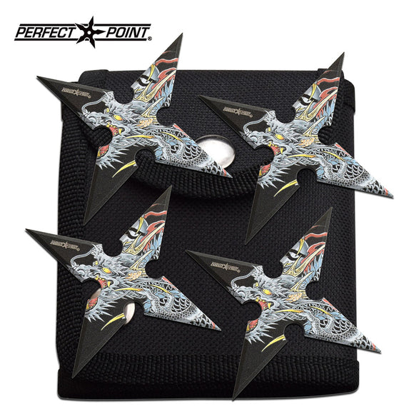 Perfect Point  PP-125-4DR 4 Pcs Throwing Stars set 4.0