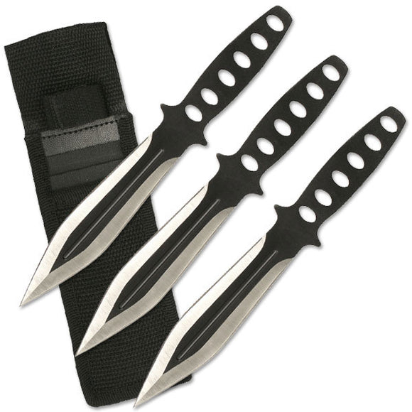Perfect Point Three Piece Throwing Knife Set (RC-136-3) - Frontier Blades