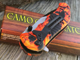 "RITE EDGE EDC RED CAMO ASSISTED OPEN OUTDOOR FOLDING POCKET KNIFE 7.25"" - Frontier Blades"