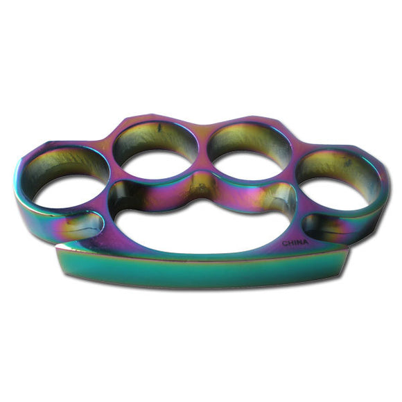 Rainbow Brass Knuckles For Sale (PK-807RB) - Frontier Blades