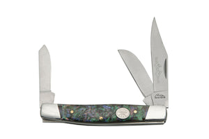 Rite Edge Large Stockman Purple Pearl Hunting Pocket Knife