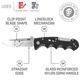 "SOG Electrician Pocket Knife w/Wire Strip Multi Tool, 3.4"" AUS-8 Blade - Frontier Blades"