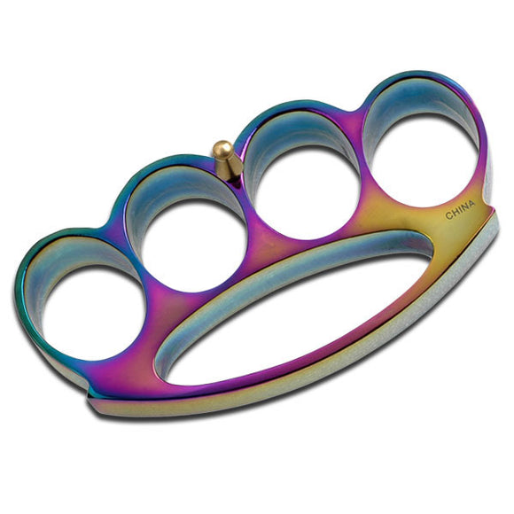 Self Defense Rainbow Brass Knuckle For Sale (PK-809RB) - Frontier Blades