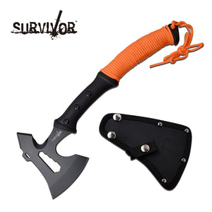 Survivor Orange Single Handed Axe - Frontier Blades
